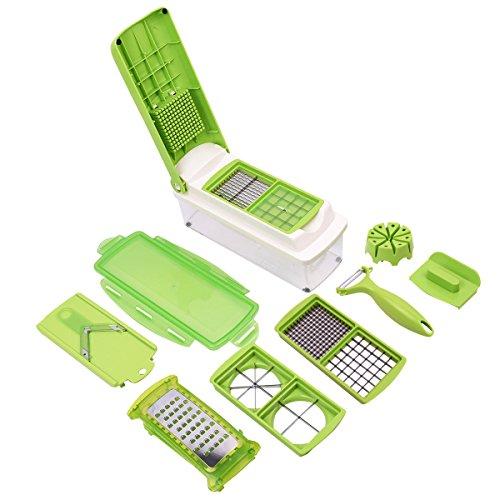 Super Buy 12 Pc Super Slicer Plus Vegetable Fruit Peeler Dicer Cutter Chopper Nicer Grater