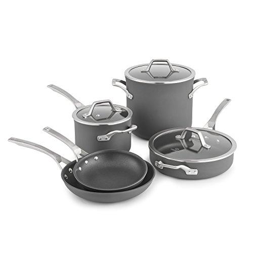 Calphalon Signature Hard Anodized Nonstick Cookware Set 8-piece Grey 1948247