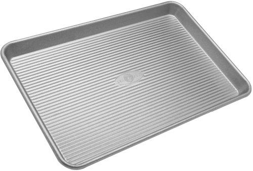 USA Pan Bakeware Half Sheet Pan Warp Resistant Nonstick Baking Pan Made in the USA from Aluminized Steel