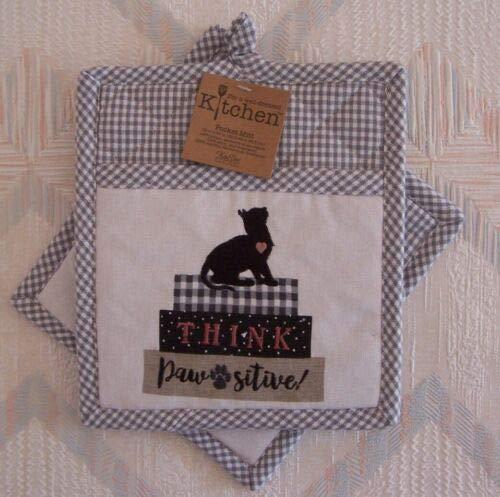 The Pecan Man Kitchen Cat Potholders Pocket Mitts Kay Dee Pawsitive Pattern