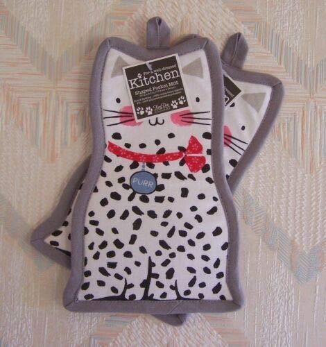 The Pecan Man Kitchen Cat Potholders Pocket Mitts Kay Dee Purr Pattern