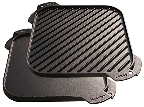 Lodge LSRG3 Cast Iron Single-Burner Reversible GrillGriddle 105-inch