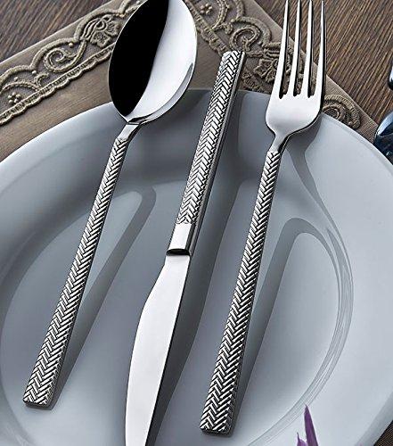 Olinda 1810 Real Stainless Steel silverware set 20 pcs Flatware set hammered flatware silverware Stainless steel tableware set Sirma