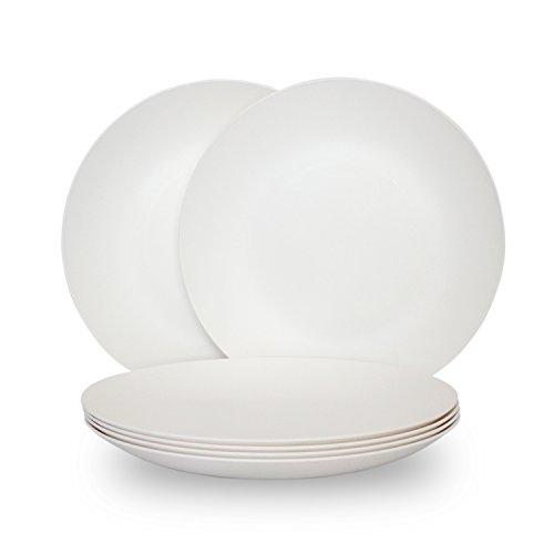 COZA DESIGN 6-Piece Plate Set White