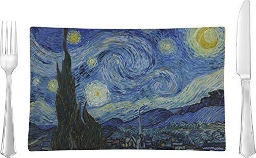 The Starry Night Van Gogh 1889 Rectangular Dinner Plate