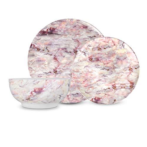 Pink Marbelised Dinner Plate
