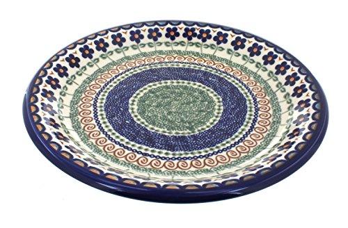Polish Pottery Aztec Flower Dinner Plate