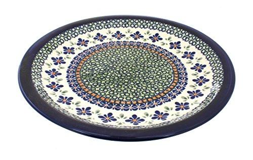 Polish Pottery Mosaic Flower Dinner Plate