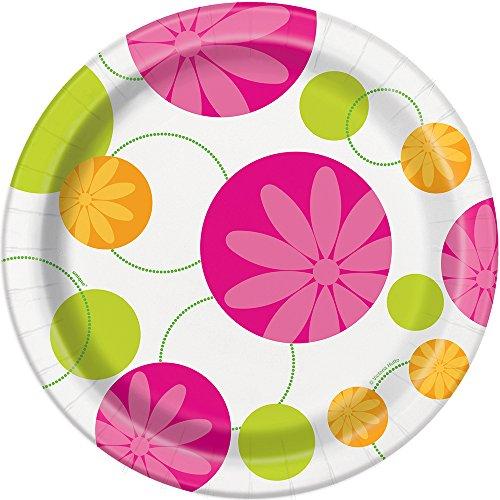 Summer Flower Dinner Plates 8ct