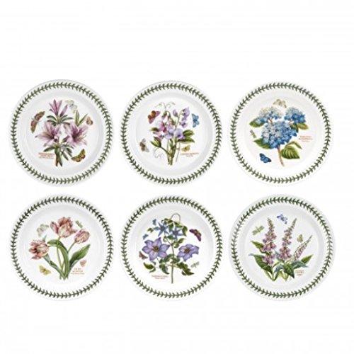 Portmeirion Botanic Garden Set of 6 Dinner Plates Assorted Motifs