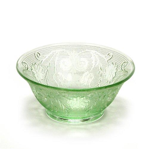 Sandwich Light Green by Tiara Glass Individual Salad Bowl
