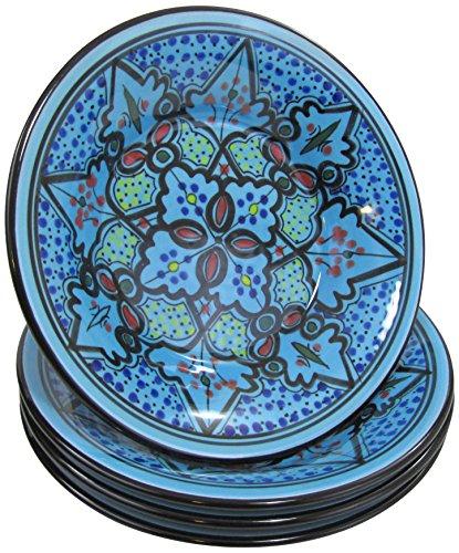 Le Souk Ceramique SB39 Stoneware PastaSalad Bowls Set of 4 Sabrine