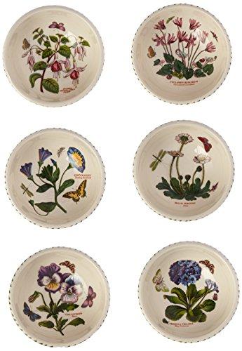 Portmeirion Botanic Garden Individual Fruit Salad Bowls Set of 6 Assorted Motifs