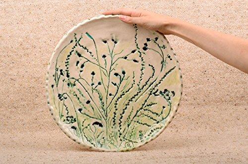 Beautiful ceramic plate stylish designer kitchenware unusual home decor