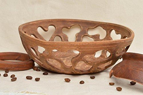 Handmade ceramic bowl for sweets unusual pottery stylish designer kitchenware