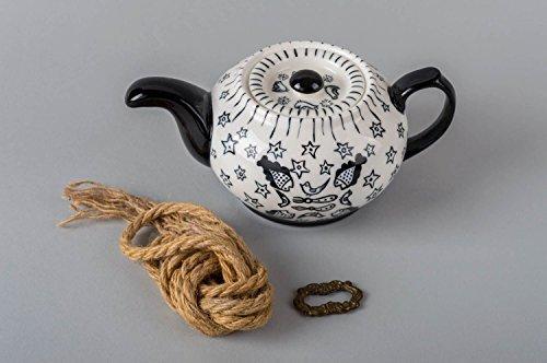Handmade painted teapot designer beautiful kitchenware cute stylish teapot