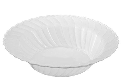 Kaya Collection - Disposable Clear Plastic Round 12oz SoupSalad Bowls - 2 Pack 36 Bowls