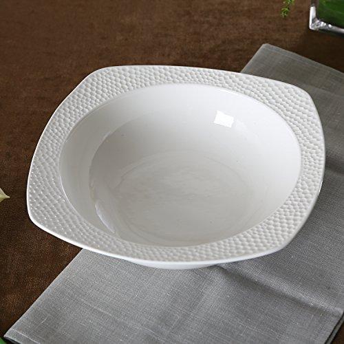 SOLECASA 35-OZ White PorcelainCeramic Dinner Serving BowlLarge CerealPastaSoupSalad Bowl