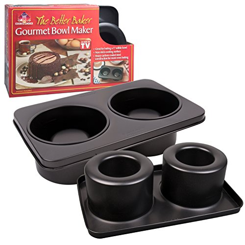 The Original Better Baker Edible Food Bowl Maker- Bake 2 Five Inch Dessert Dinner Bowls or Mini Muffins