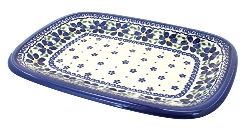 OKSLO Polish pottery spring blossom medium rectangular serving dish