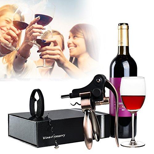 Rabbit Wine Opener Classic Lever Corkscrew Wine Bottle Openers with Foil Cutter Wine Cork Opener Wine Accessories Burnished Bronze