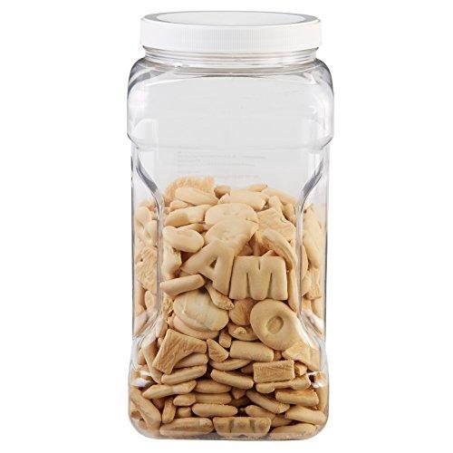 Rubbermaid FG7K2300WHT Square Food Storage Jars 1-Gallon White