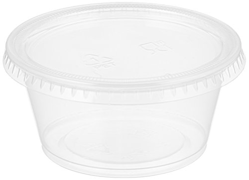 Party World Bpa-free Jello Shot Cups Plastic Containers with Lids microwaveable Lids Exact Fit to Cup 4-oz 50-count