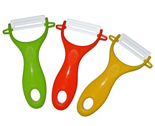 Camiler 3-set Ceramic Peelers,red/green/yellow