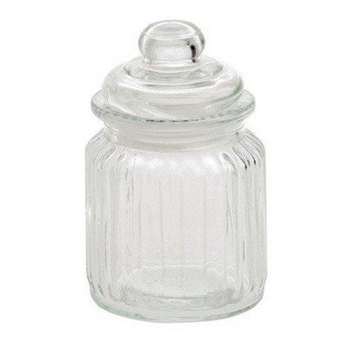 La Porcellana Bianca Versilia Ribbed Glass Container Set of 12 3 x 475