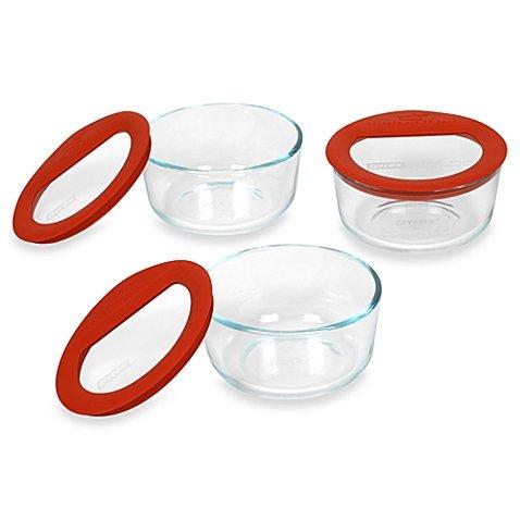 Pyrex No-Leak™ 3-Piece Glass Container Set