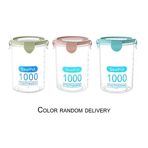 B-pretty Practical Household Plastic Storage Jars Food Storage Bottle Safe Non-Toxic Leakproof Sealed Kitchen Storage Box