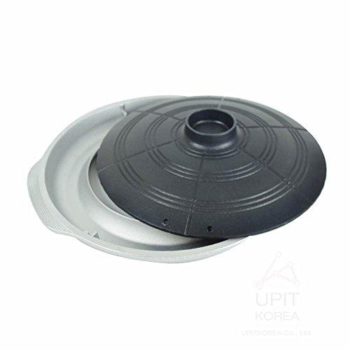 UPIT Korean BBQ Grill Pan Plate for home Caldron Lid Shape 1ea Black