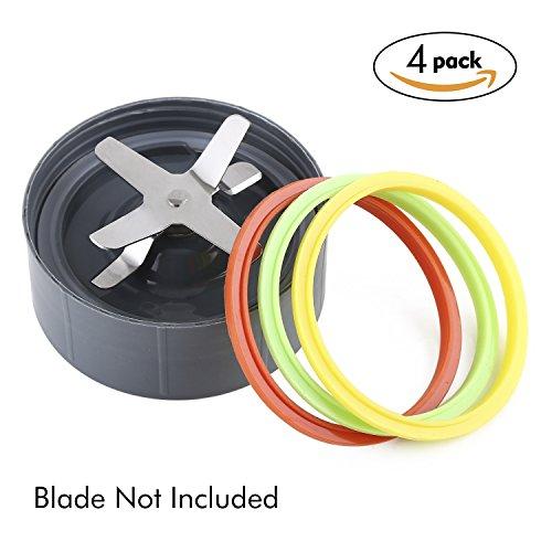 NEW DESIGN Netany 4-Pack Nutribullet Blenders Gaskets with Lip - Fits Nutribullet 900W