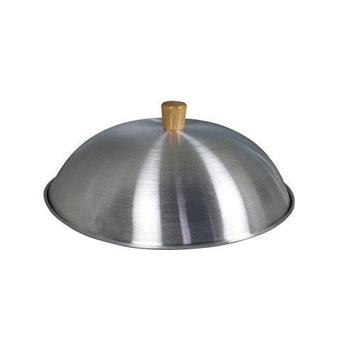 Dexam Aluminium Wok Lid With Wooden Knob - Suitable For 14 - 34Cm Woks - Sits Inside The Wok