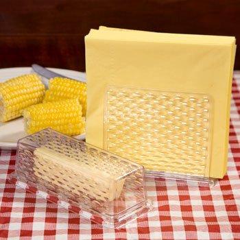 Plastic Napkin Holder Butter Dish Set