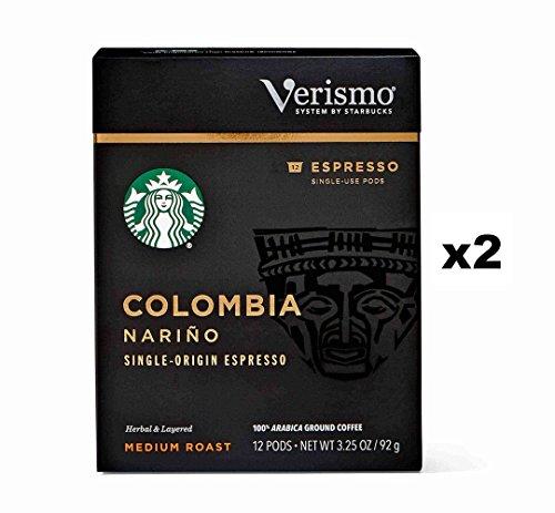 Starbucks Colombia Nariño Espresso Verismo Pods 24 Count