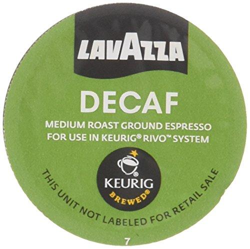 Lavazza Espresso Decaf Keurig Rivo Pack 36 Count