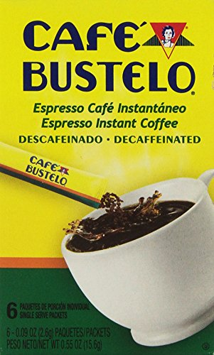 Bustelo Decaffeinated Instant Espresso Coffee 6 - 009 Oz Individual Packets Decaf 2 Pack