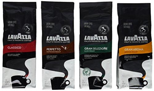 Lavazza Classico Gran Aroma Gran Selezione Perfetto Ground Coffee Pack of 4