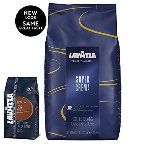 Lavazza Coffee Espresso Super Crema Whole Beans Pack of 8 8 x 1000g