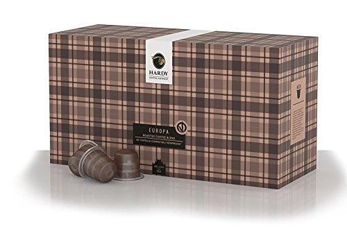 60 Nespresso Compatible Capsules – Hardy Caffé est 1954 – Italian Espresso Europa 60 Pods for OriginalLine Machines