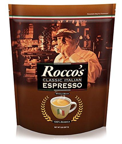 Cafe Don Pablo - Roccos Classic Italian Espresso - Medium Roast Whole Bean Arabica Coffee - 2 LB Bag