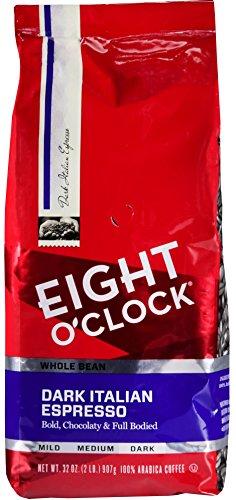 Eight OClock Whole Bean Coffee Dark Italian Espresso 32 Ounce