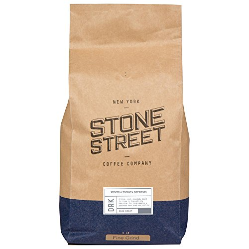 MISCELA PRIVATA Traditional Italian Style Espresso  Fine Ground Coffee  Dark Roast  5 LB Bulk Bag  Great Crema Full-Body Rich Balanced  Specialty Handcrafted 100 Arabica