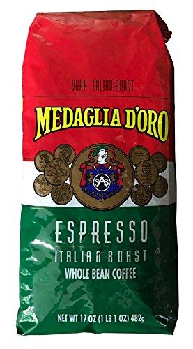 Medaglia DOro Whole Bean Italian Roast Espresso Coffee 17 Ounce