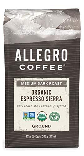 Allegro Coffee Organic Espresso Sierra Ground Coffee 12 oz