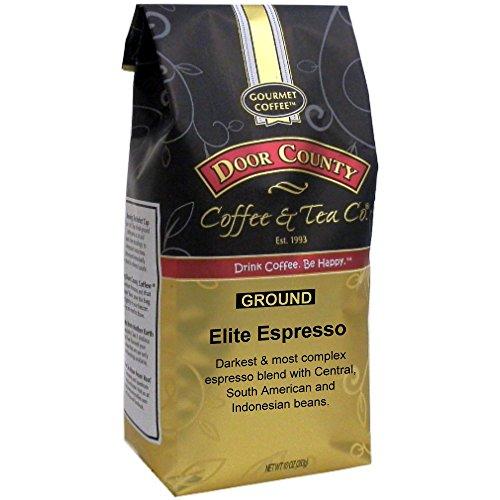 Door County Coffee Elite Espresso Dark Roast Ground Espresso 10 oz Bag