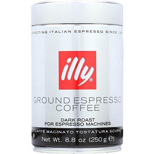 Illy Caffe Coffee Espresso Dark Roast Ground 88 Ounce