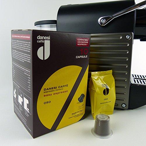 Danesi Gold for Nespresso Machines espresso coffee capsules 60 Capsules