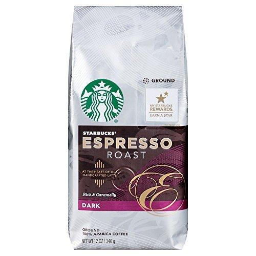 Starbucks Dark Roast Espresso Roast Ground Coffee 12oz Bag Pack of 3